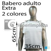 125 baberos desechables adulto papel extra