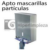 Dispensador inox de mascarillas partículas