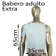 500 baberos desechables adulto papel extra 3