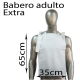 500 baberos desechables adulto papel extra 2